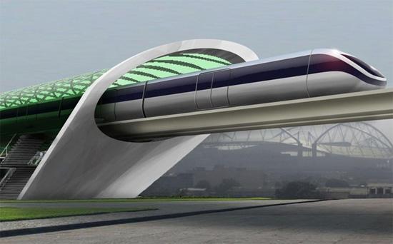 """Hyperloop(超回路列车)同样也是个极强""""黑科技""""感的项目,设计时速达到了1200公里每小时"""