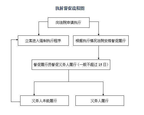 """上海部分法院实施的""""执前督促程序""""流程图"""