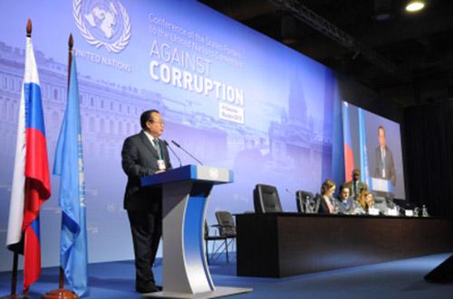 《联合国反腐败公约》第六届缔约国会议于2015年11月2日至6日在俄罗斯圣彼得堡举行