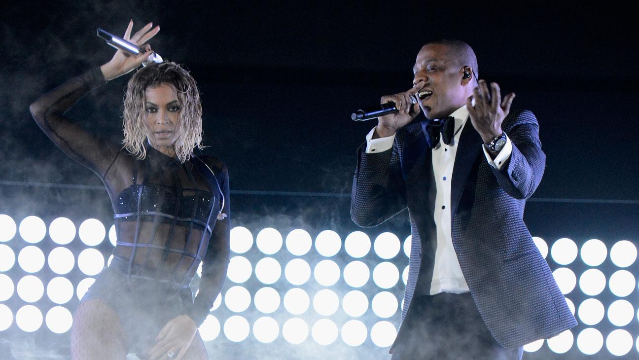 美国说唱是大主流:图为Jay-Z和老婆Beyonce