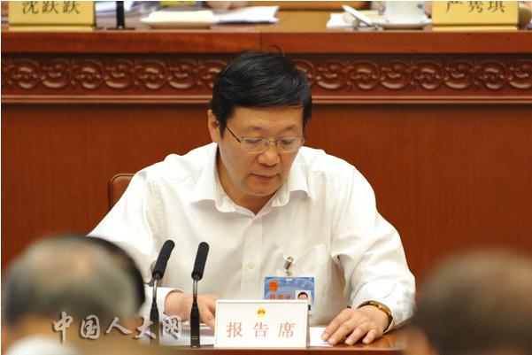 财政部部长楼继伟受国务院委托对《中华人民共和国环境保护税法(草案)》进行说明