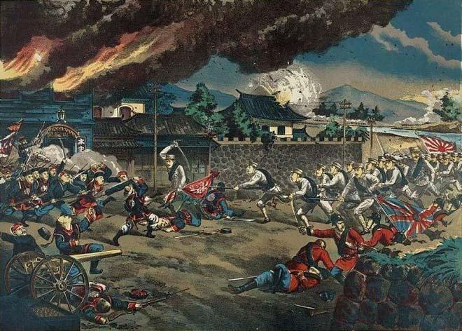 日军版画:天津机器局战斗