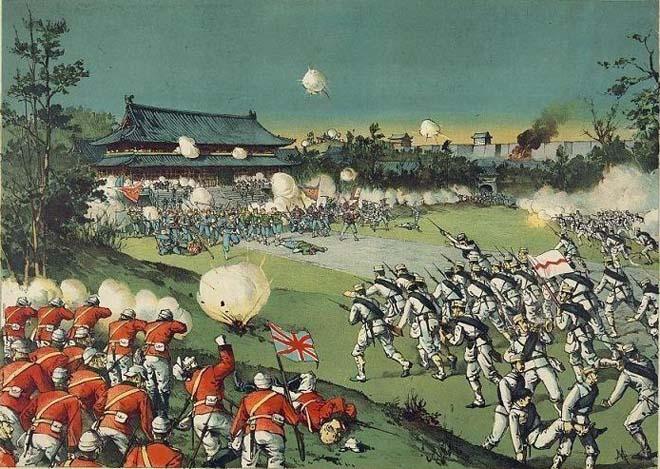 日军版画:联军攻占皇城战斗