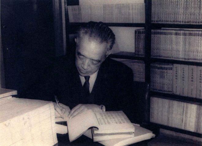 1959年,南港。该年,胡适写成《容忍与自由》,刊出后并作同题演讲