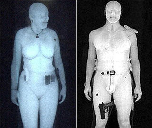 最初,美国X射线安检仪扫描得到的图像