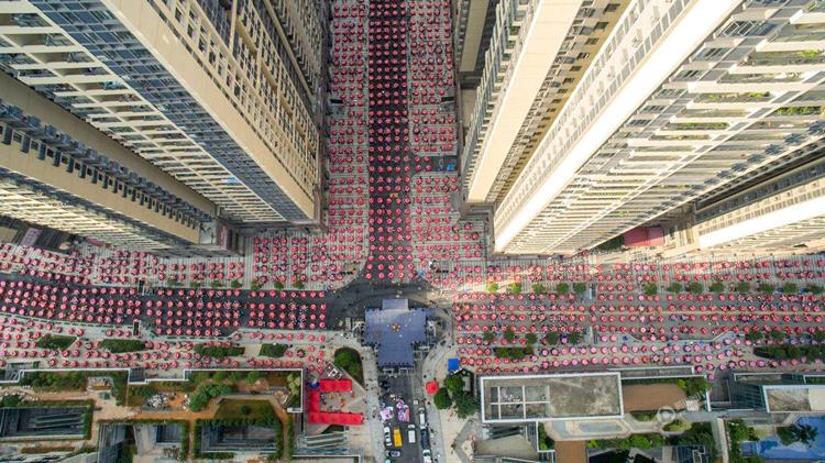 10月2日广州杨箕村万人宴,由于房价上涨该村户均已经身价千万