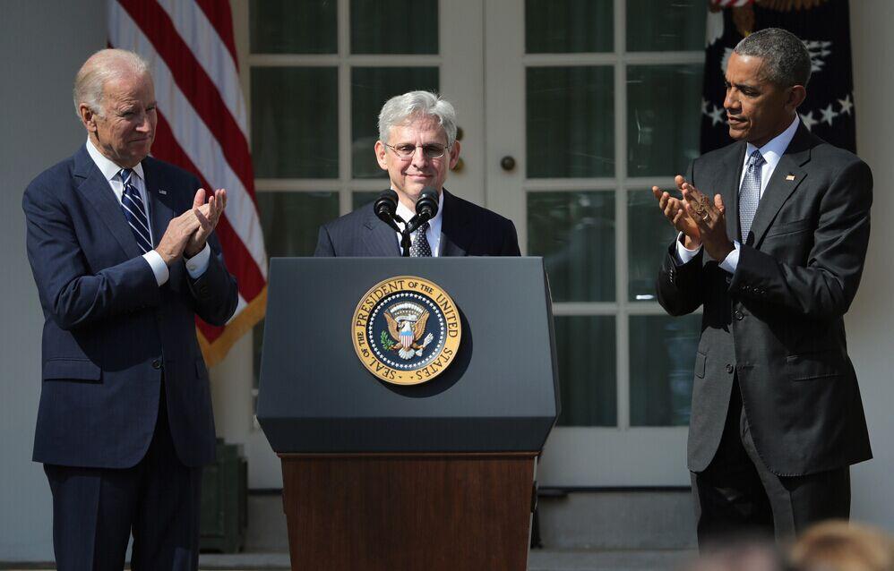 资料图:奥巴马提名加兰德为美国最高法院大法官,CFP供图