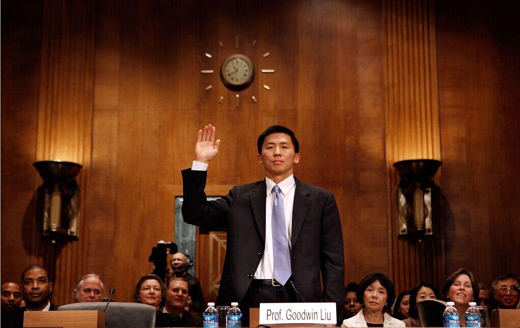 资料图:华裔教授刘弘威出席美联邦法官提名确认听证会,CFP供图
