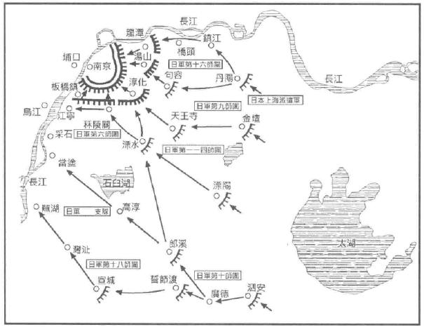 南京保卫战形势图(来源:《重探抗战史 从抗日大战略的形成到武汉会战 1931-1938》)
