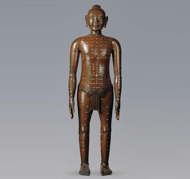 明仿宋元针灸铜人,中国国家博物馆藏