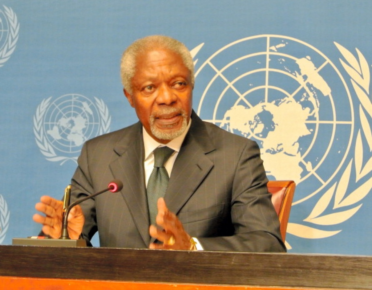 联合国前秘书长安南在国内和国际舆论中都很醒目