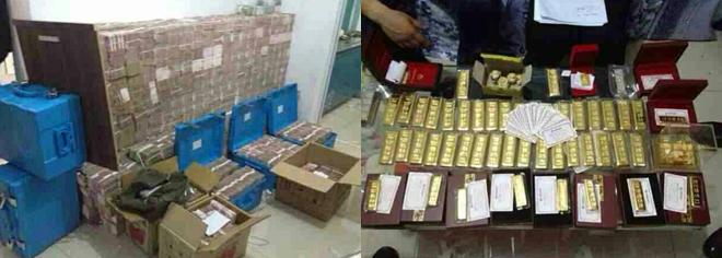 办案人员在马超群家中搜出现金1.2亿元、黄金37公斤等财物