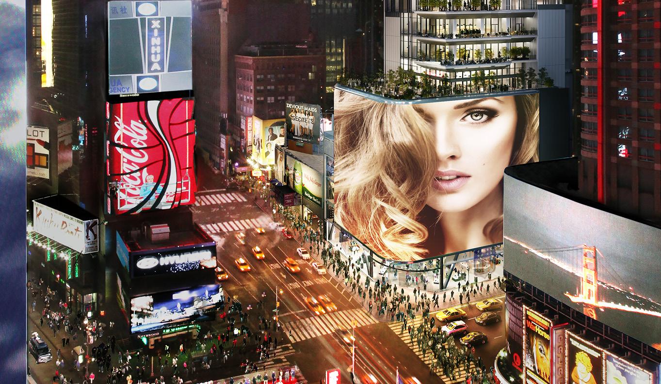 纽约时代广场一景
