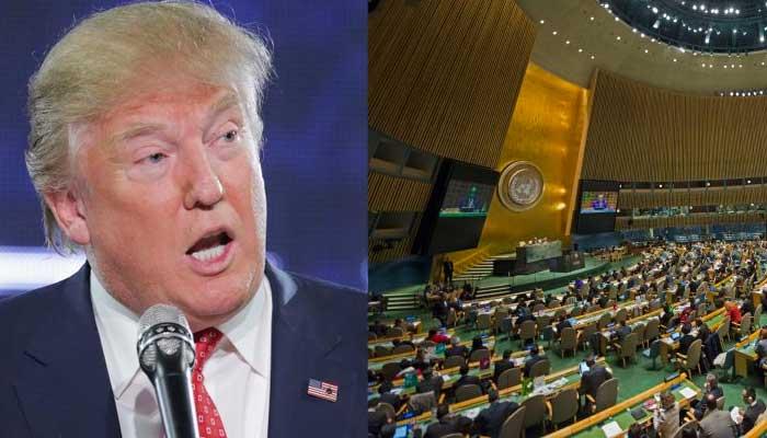 特朗普曾经多次批评联合国