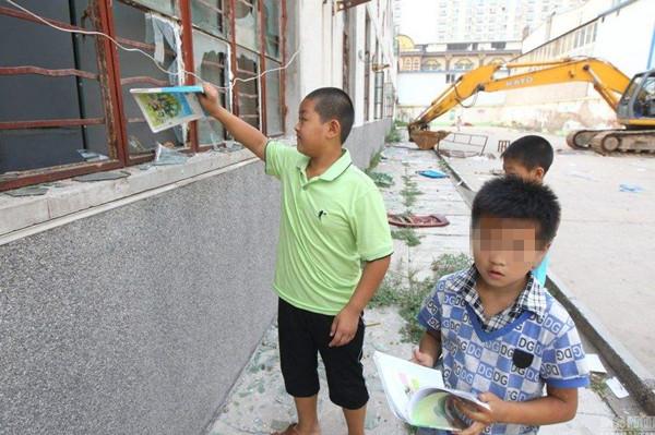 一所正在被拆除的农民工子弟学校