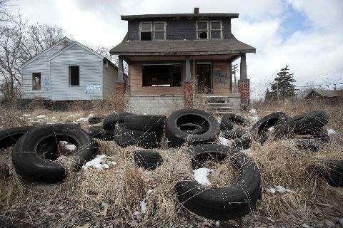 """著名的""""生锈地带""""底特律"""