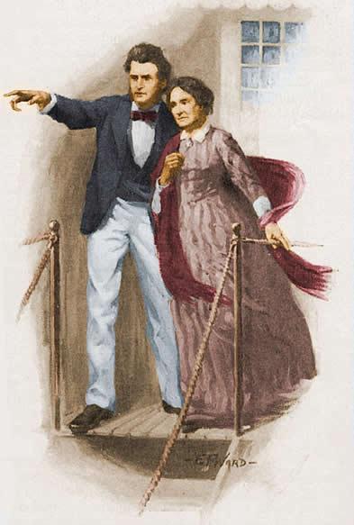 马克・吐温与母亲,插画出自St. Nicholas,1916