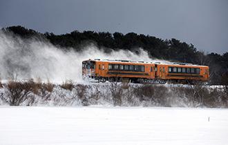 """【鹅眼】日本""""雪国列车"""":烤暖炉喝小酒吃鱿鱼"""