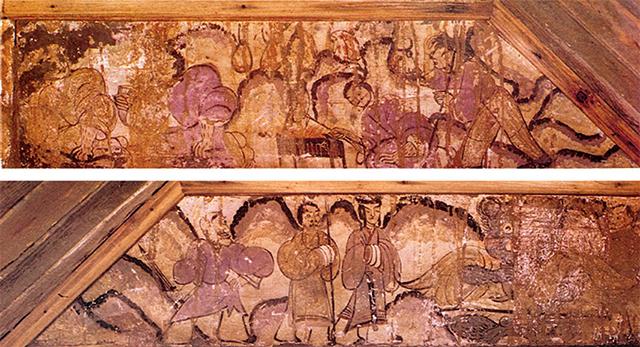 汉代墓室壁画《鸿门宴图》