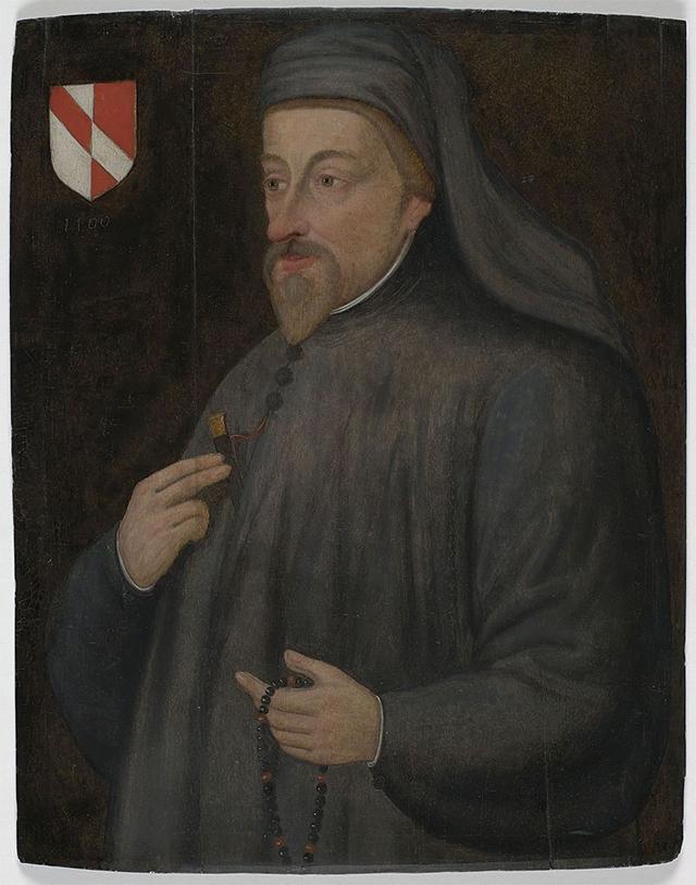 17世纪的乔叟像