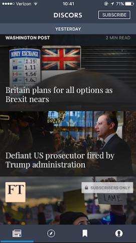 App首屏按照新闻事件罗列