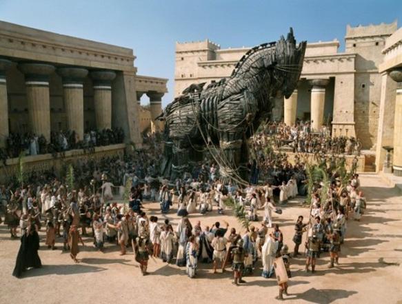 图18:马耳他的电影制片厂,正在制作电影《特洛伊》