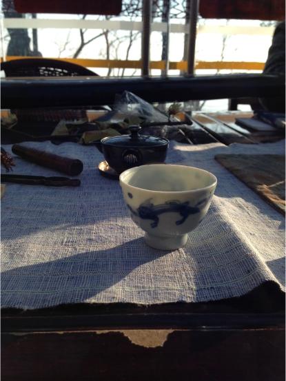 古老的急须和茶盅,作者供图