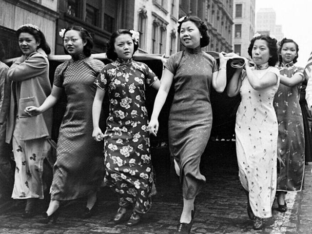 历史资料图:民国女性