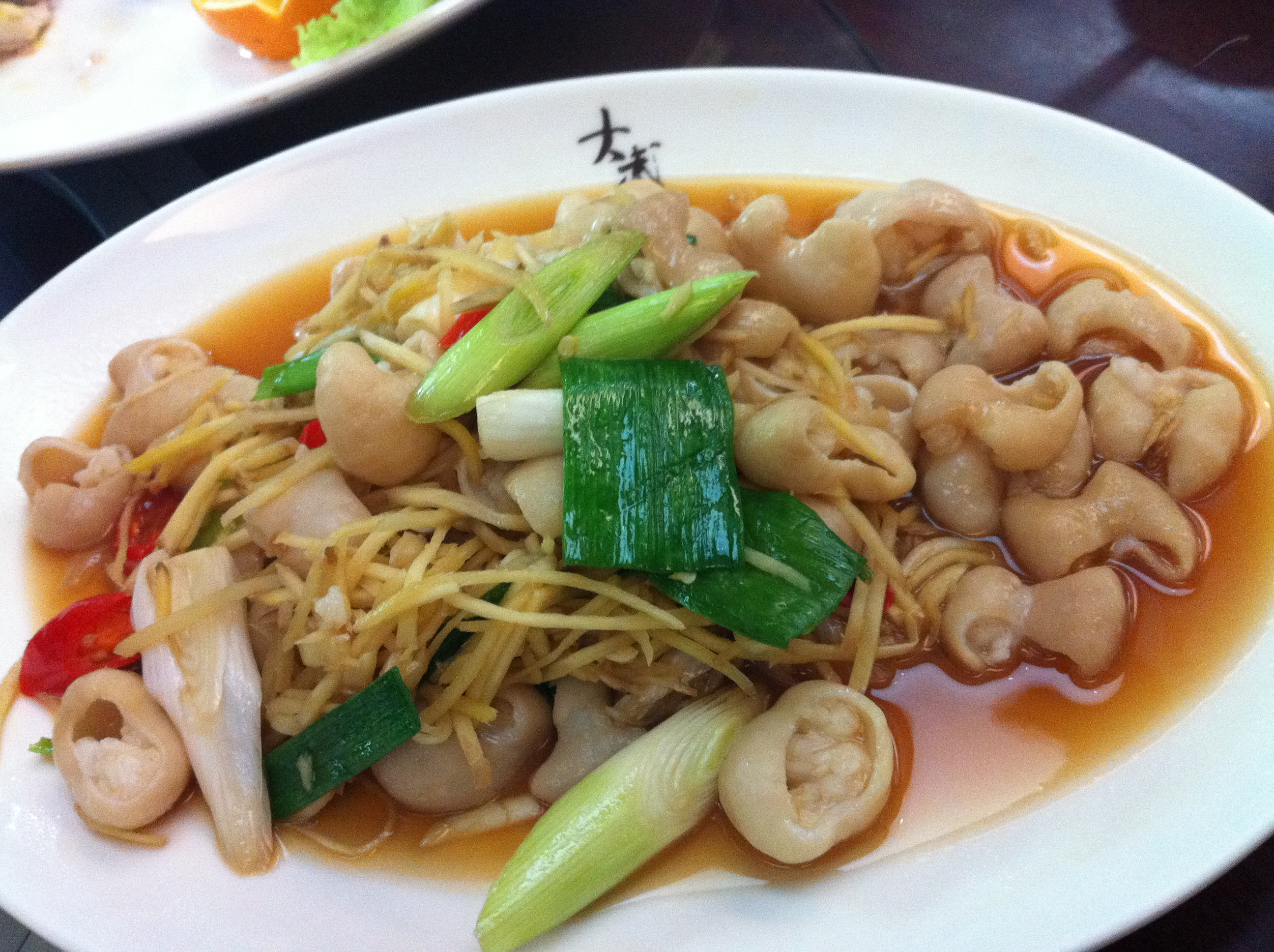 台湾客家菜经典,姜丝炒大肠