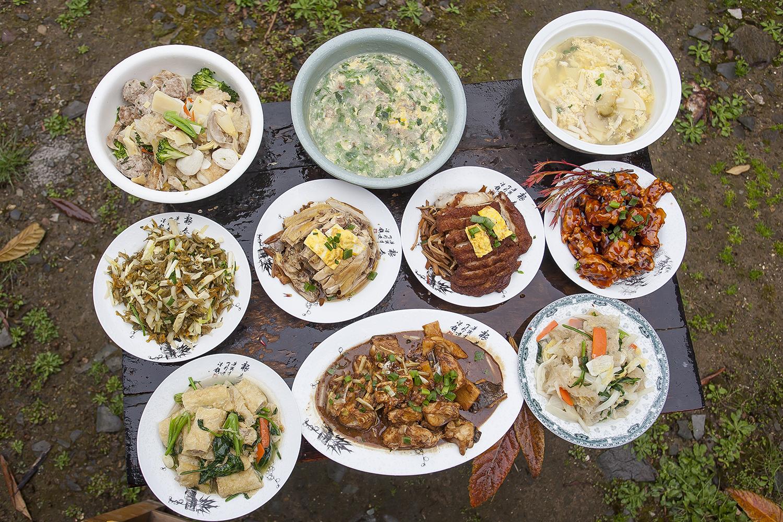 绍兴上虞山村人家的十碗头