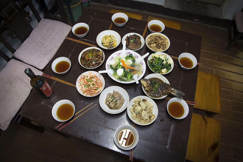 绍兴传统十碗头,这是水乡东浦小镇的作法