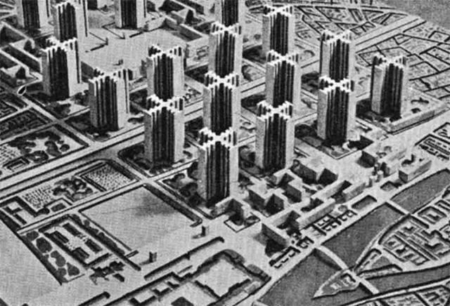 """柯布西耶设想的""""光明城市"""""""
