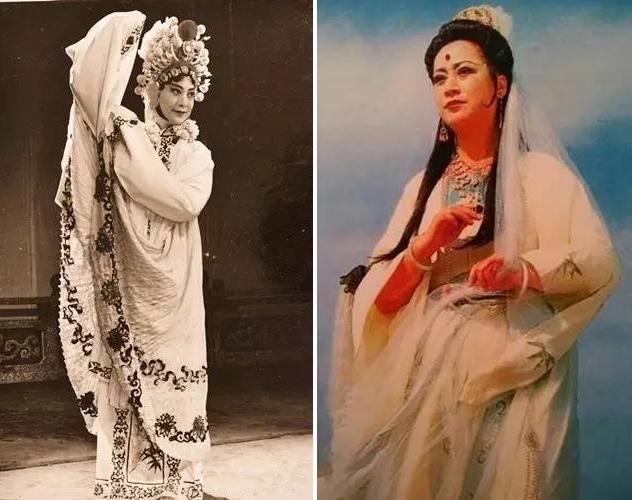 左:左大玢在湘剧《断桥》中饰白素贞