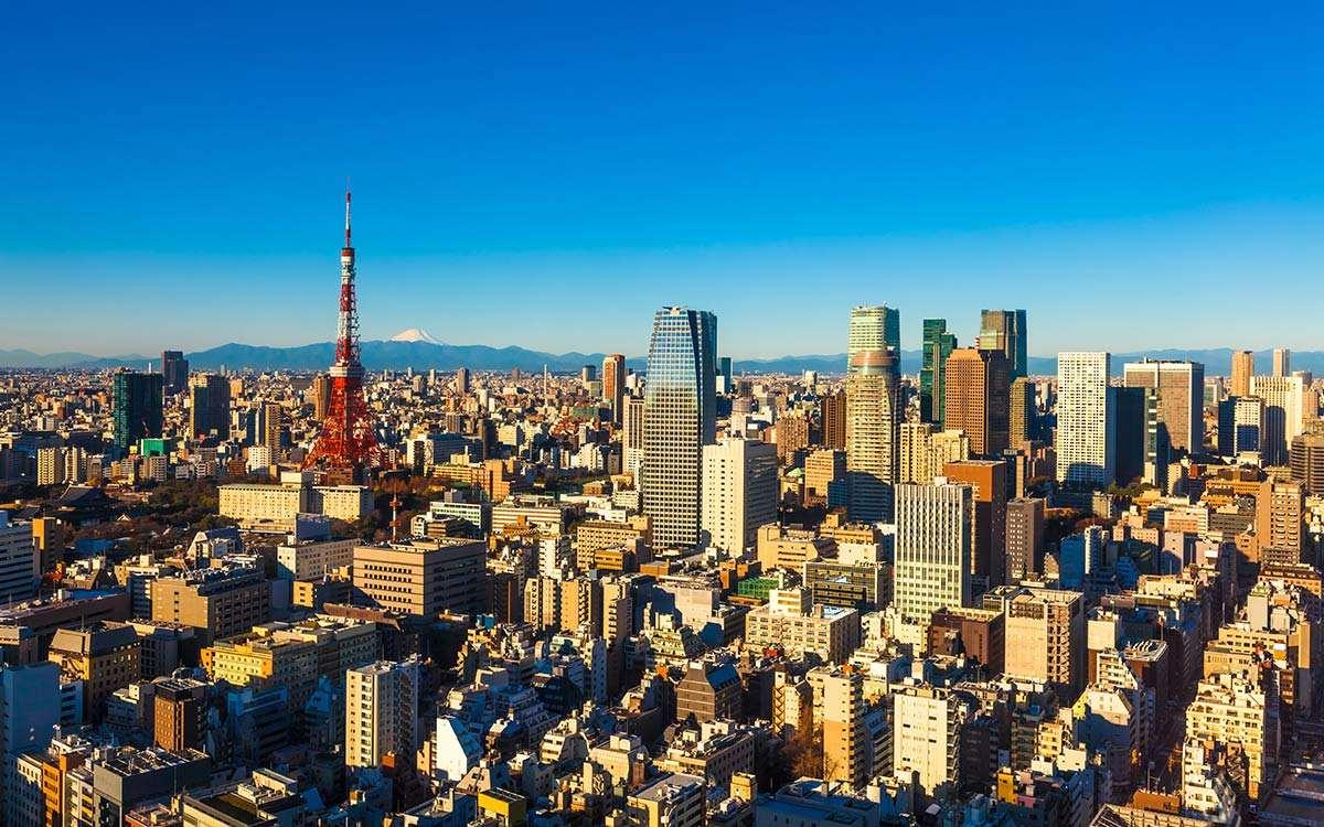 资料图:繁荣的日本城市