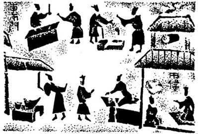 东汉集市画像砖
