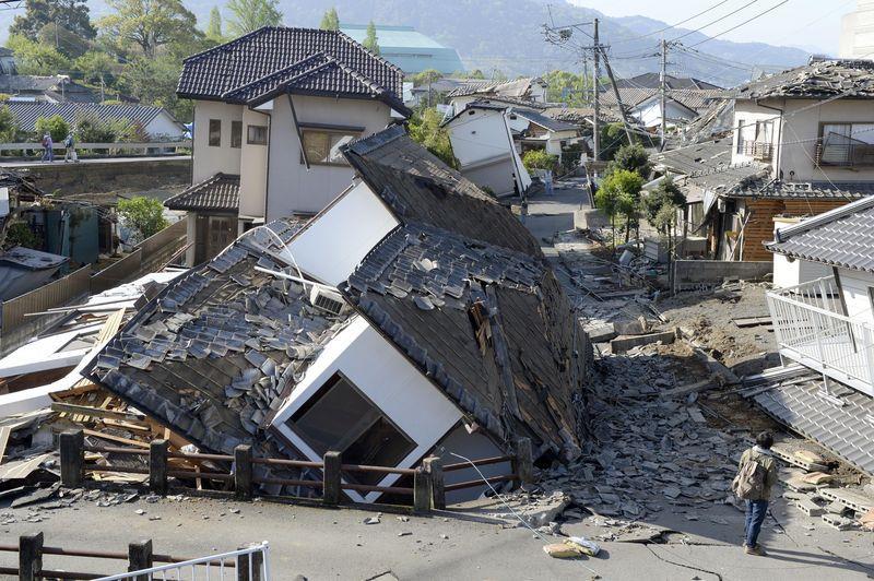 新闻资料图:熊本地震