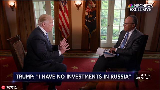 2017年5月11日,川普接受《NBC晚间新闻》采访