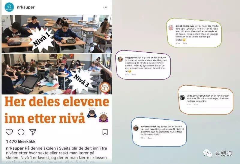 Instagram上关于瑞士学校体系话题的讨论