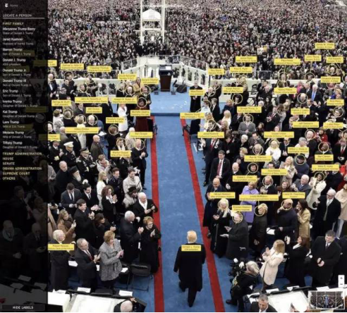 总统就职典礼上的互动照片