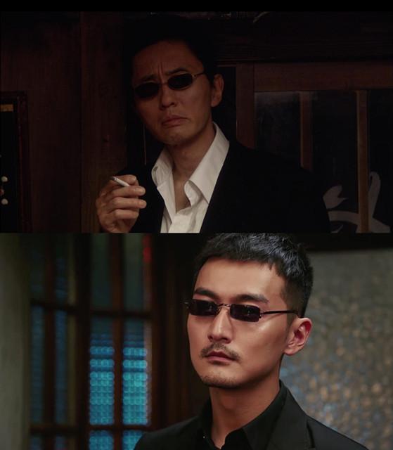 日版《深夜食堂》的黑道大哥到了中国版里,看起就像天桥底下拉二胡的(上图是日版《深夜食堂》,下图是华语版)