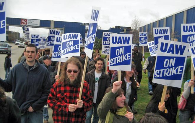 全美汽车工人联合会(UAW)是一家战斗力很强的老牌工会