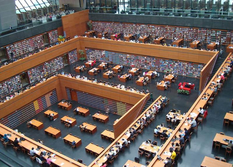 北京的国家图书馆,对于善于学习的人是一座宝库