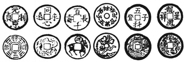 图:古代厌胜钱部分样式