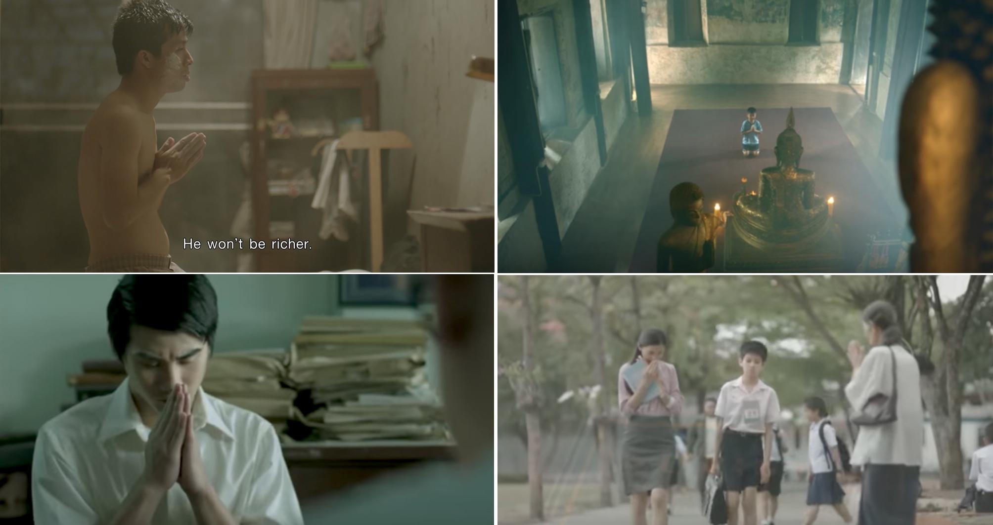 泰国广告中的合十礼