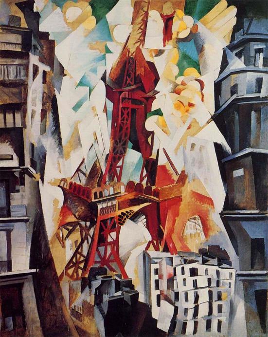 德劳内:《战神广场,红色的塔》