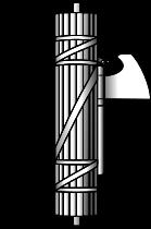 """""""法西斯""""原指中间插着一把斧头的一捆棍棒,古罗马官吏出巡时所执的权力标志"""