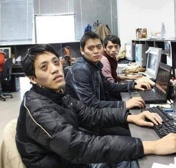 网上流传的表现程序员面貌的图片