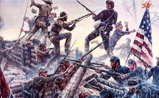 美国南北战争期间,一些商人大发战争财