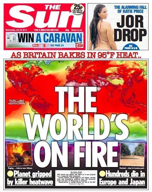 今年夏天席卷北半球的热浪,很多人应该还印象深刻