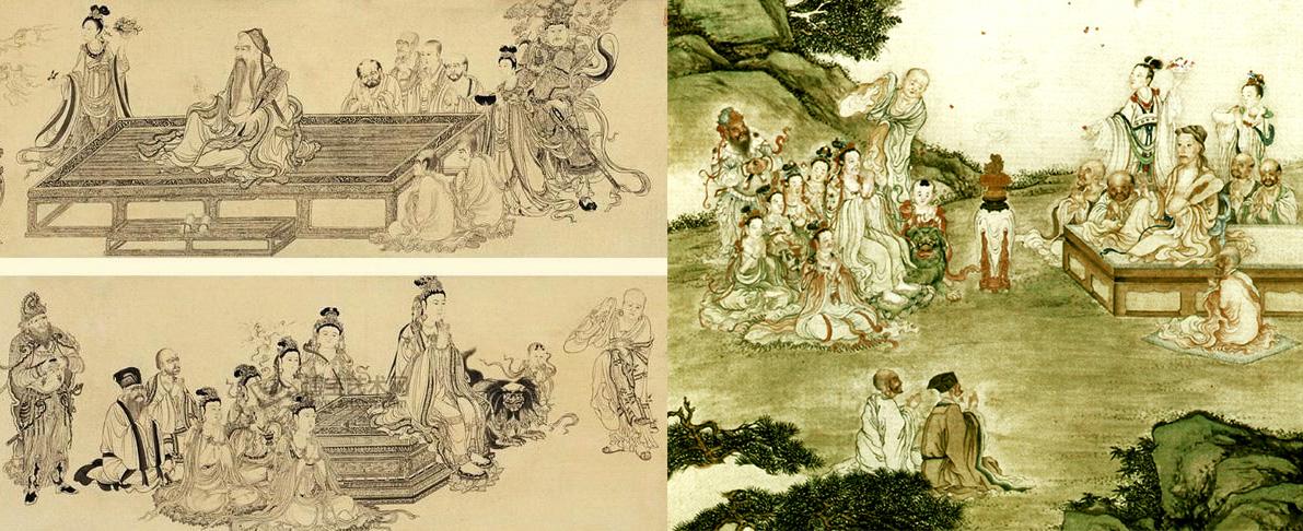 李公麟和丁观鹏作品对比¡£原来横卷改成立轴了